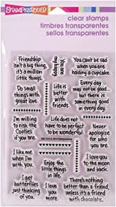 Stampendous SSC1213 Perfectly Clear Stamps, Life Words