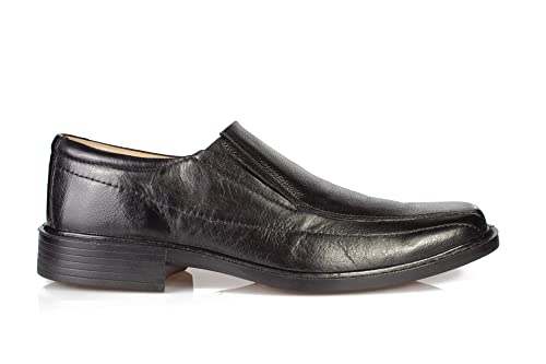 Fenside Country Clothing - Mocasines de Cuero para Hombre Negro Negro: Amazon.es: Zapatos y complementos