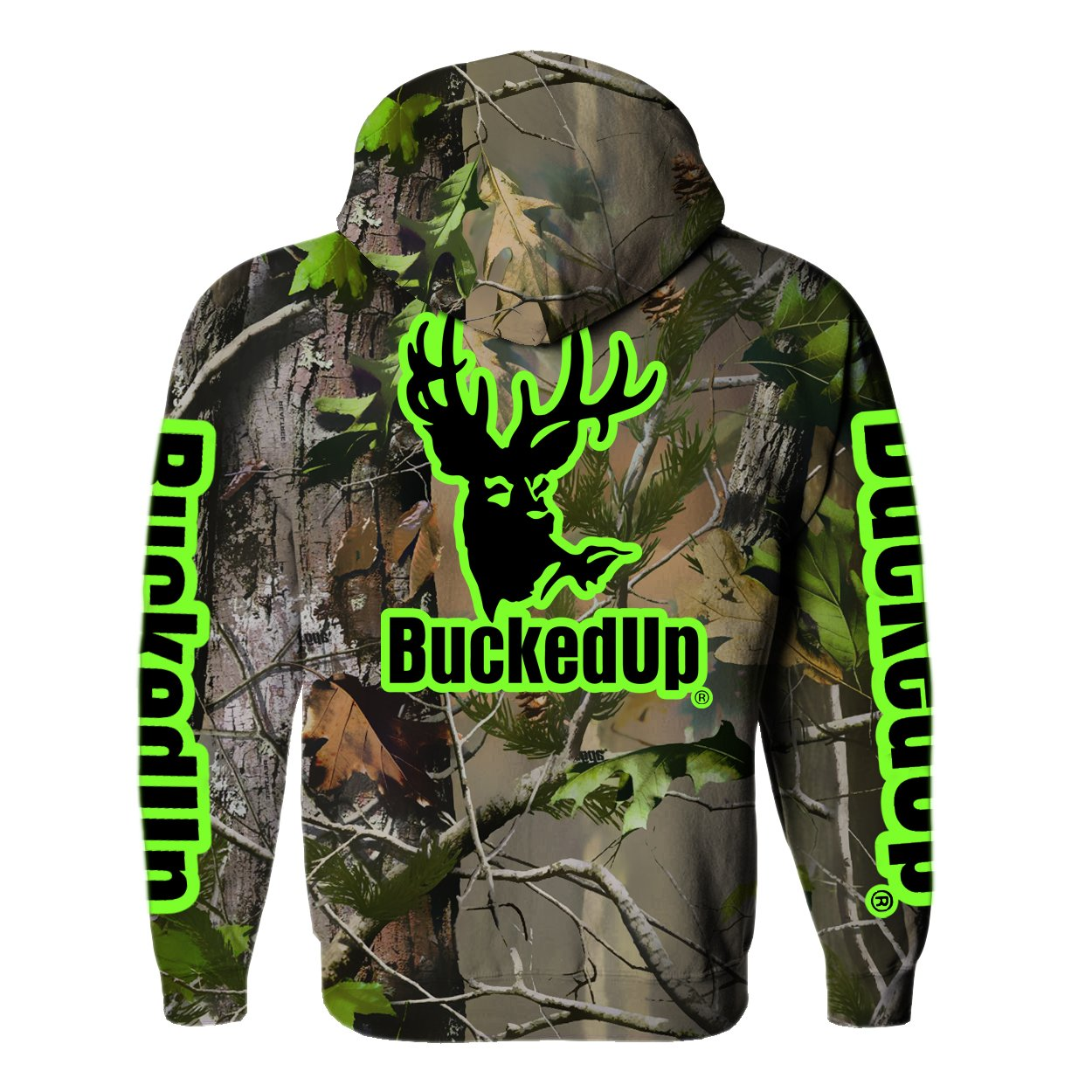 amazon com buckedup pullover hoodie realtree apg with logo clothing