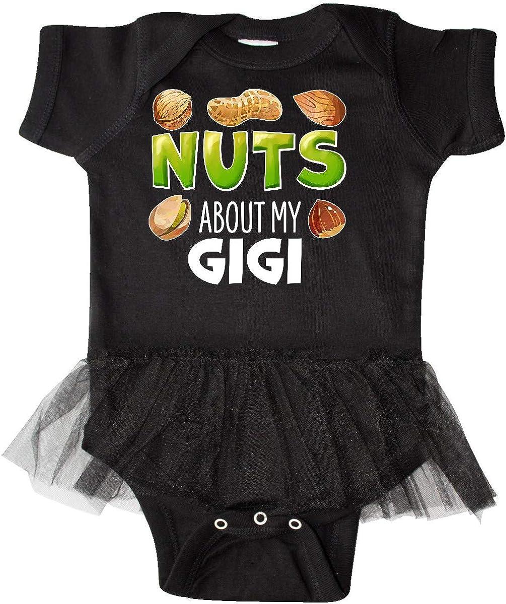 inktastic Nuts About My Gigi Peanut Pistachio Infant Tutu Bodysuit Almond
