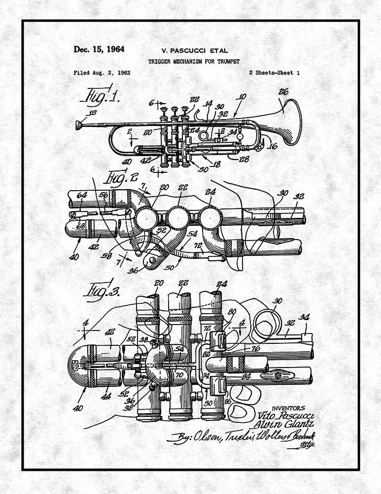 Amazon Com Frame A Patent Trumpet