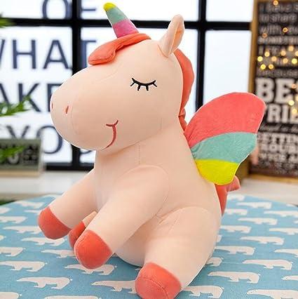 Amazon Com Rainbow Unicorn Stuffed Animal Sleeping Dolls Wings