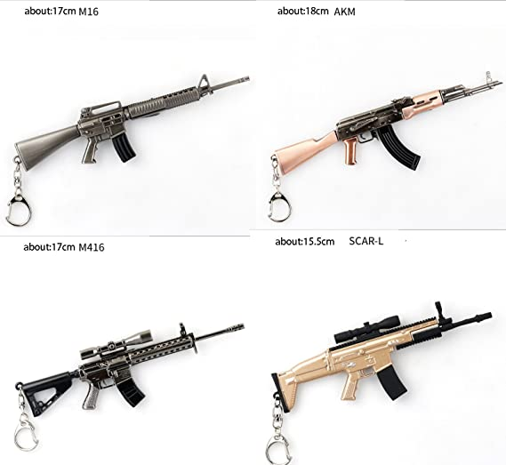 Amazon Com Keychains Key Chain Pubg Awm Akm M416 98k Gun Weapon