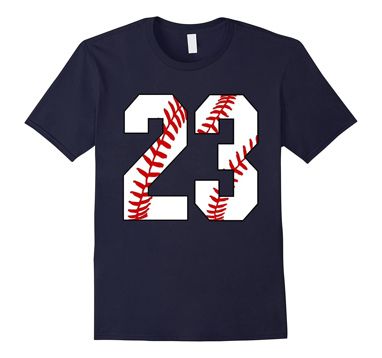 31be04d9d94 23 Baseball 23rd Birthday Twenty-three Baseball Mom T-shirt-TH ...