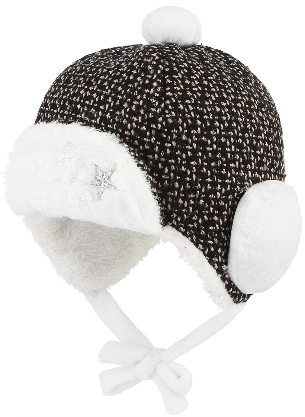 Gemvie Baby Boys' 3-12 Months Winter Fur Trapper Hat Eskimo Earflap Cap 46cm