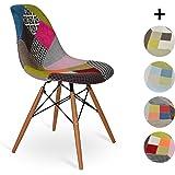 Chaise Eames DSW style - Patchwork - 48 cm x 55 cm x 83.5 cm - SANTANI MOBILI