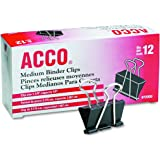ACCO Binder Clips, Medium, 12/Box (72050)