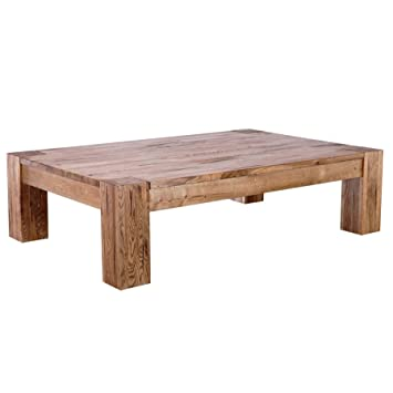 Vaja Table Basse En Chene Massif Huile 130 X 85 Cm Amazon
