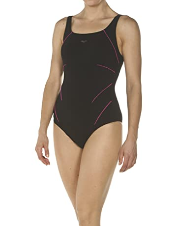 tama/ño XS Color Shark//Turquoise Mujer Talla del Fabricante: 36 ARENA W Basics Swim Pro Back One Piece Ba/ñador para Mujer