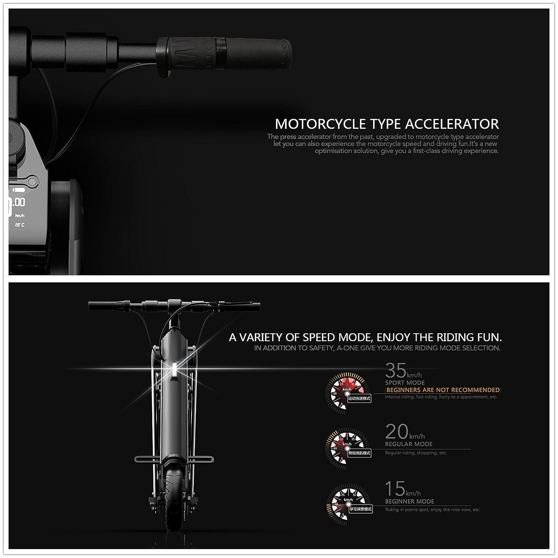 SMLRO coswheel A-One Mini 350 W Bicicleta Eléctrica a la Mode 1 Segunda Plegado Bicicleta Eléctrica Plegable y Portátil Ruedas de 8 Inches 36 V 10 Ah ...