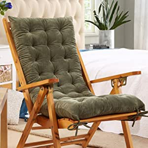 Love Home Cojín De Sillón Exterior,Color Sólido Engrosado Durable cojín De Silla Reclinable para Patio Colchoneta para Sillon Al Sol Interior para Mueble(Sin Silla)-Verde 48x120cm(19x47inch): Amazon.es: Hogar