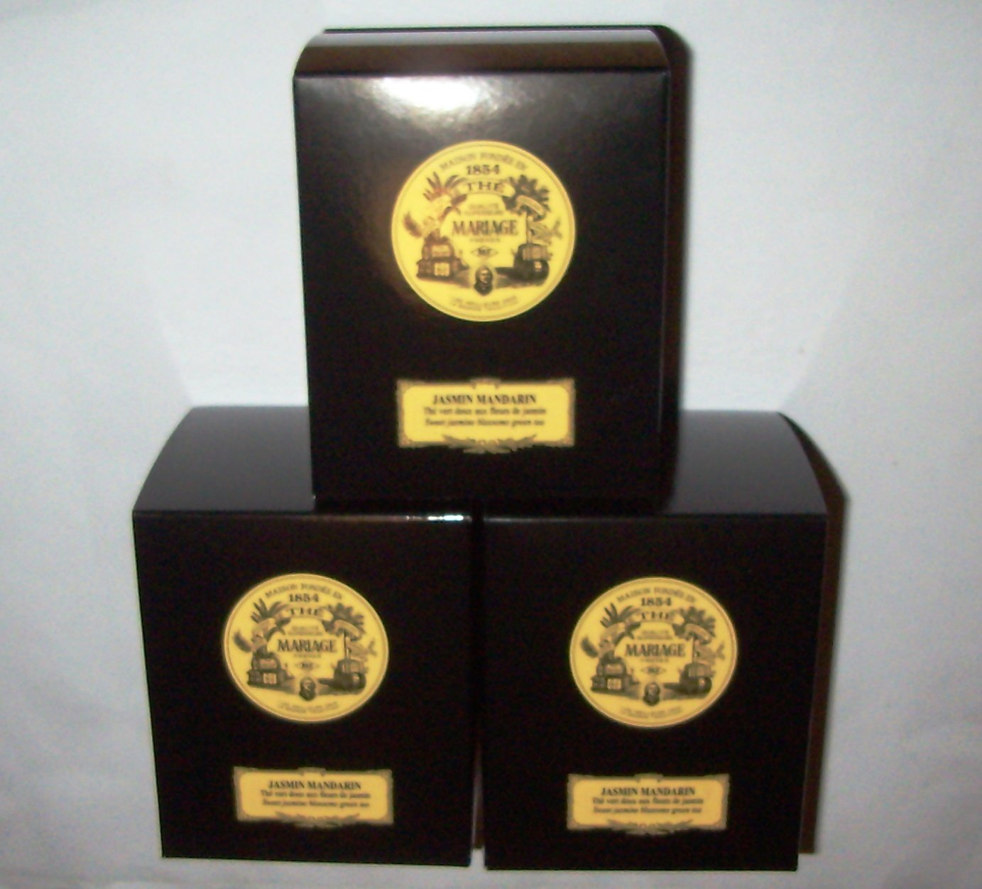 Mariage Frères - JASMIN MANDARIN - 3 x TIN'S of Black classical sealed 3.52oz / 100gr canister / tin