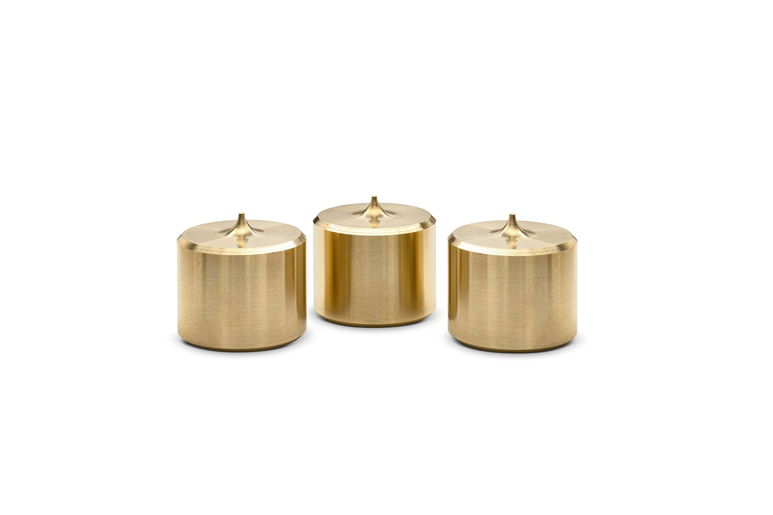 Butcher Block Acoustics PurePoint️ Brass Footers - Set of 3 (1⅝'' Dia X 1½'' Tall) by PurePoint ️ Brass Footers