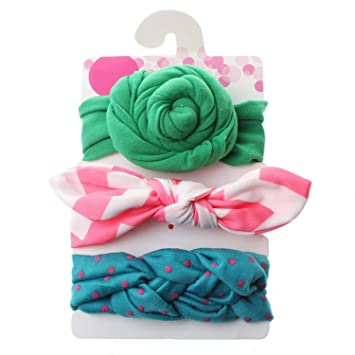 Baby Headband Girl Toddler Flower Bowknot Dots Hair Band Hair Accessory Color