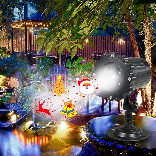 Weehey Proyección de Luz Animada Proyector LED Luz de Navidad ...