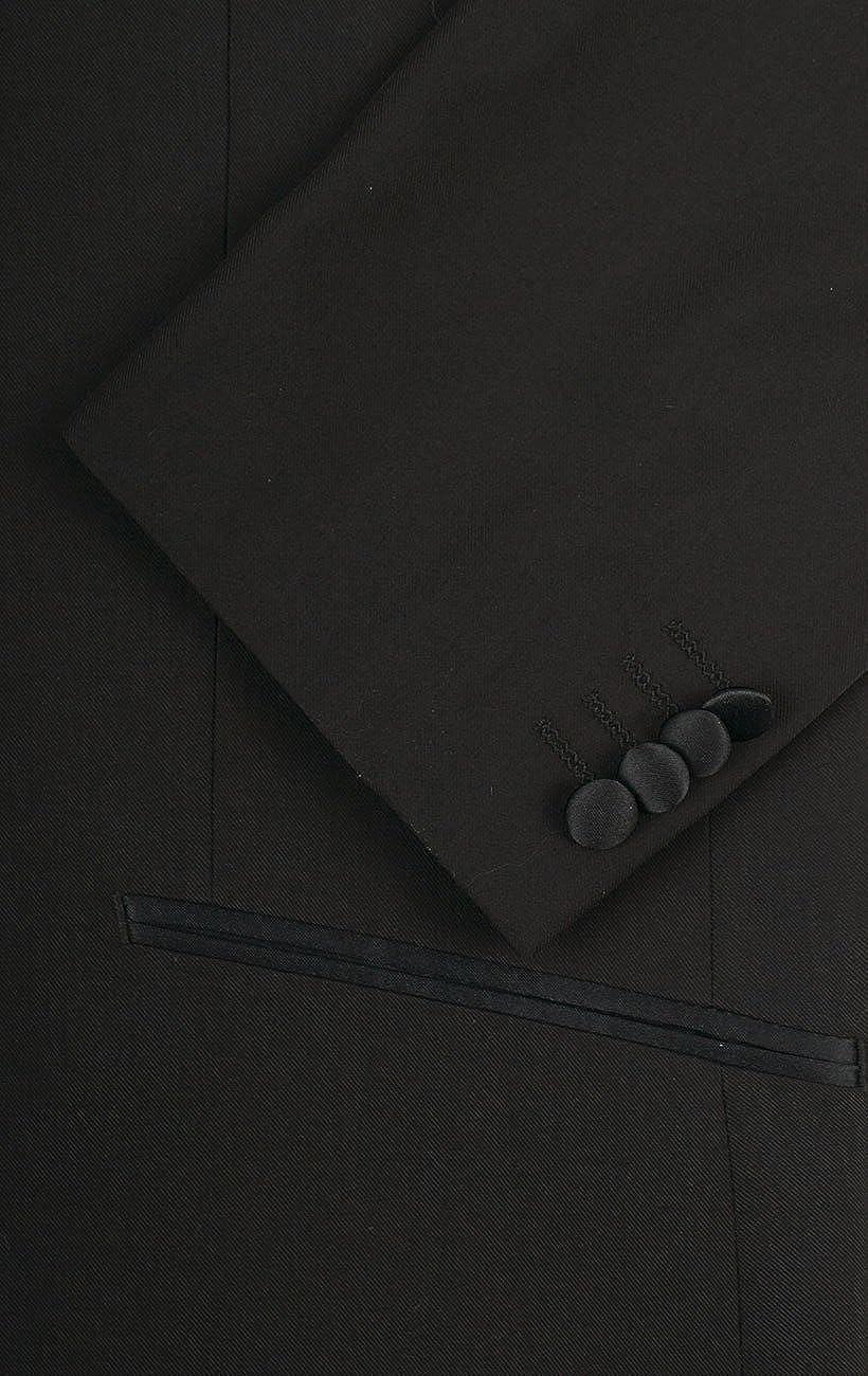 1 Knopf Dobell Schwarzer Smoking fallendes Revers 100/% Wolle