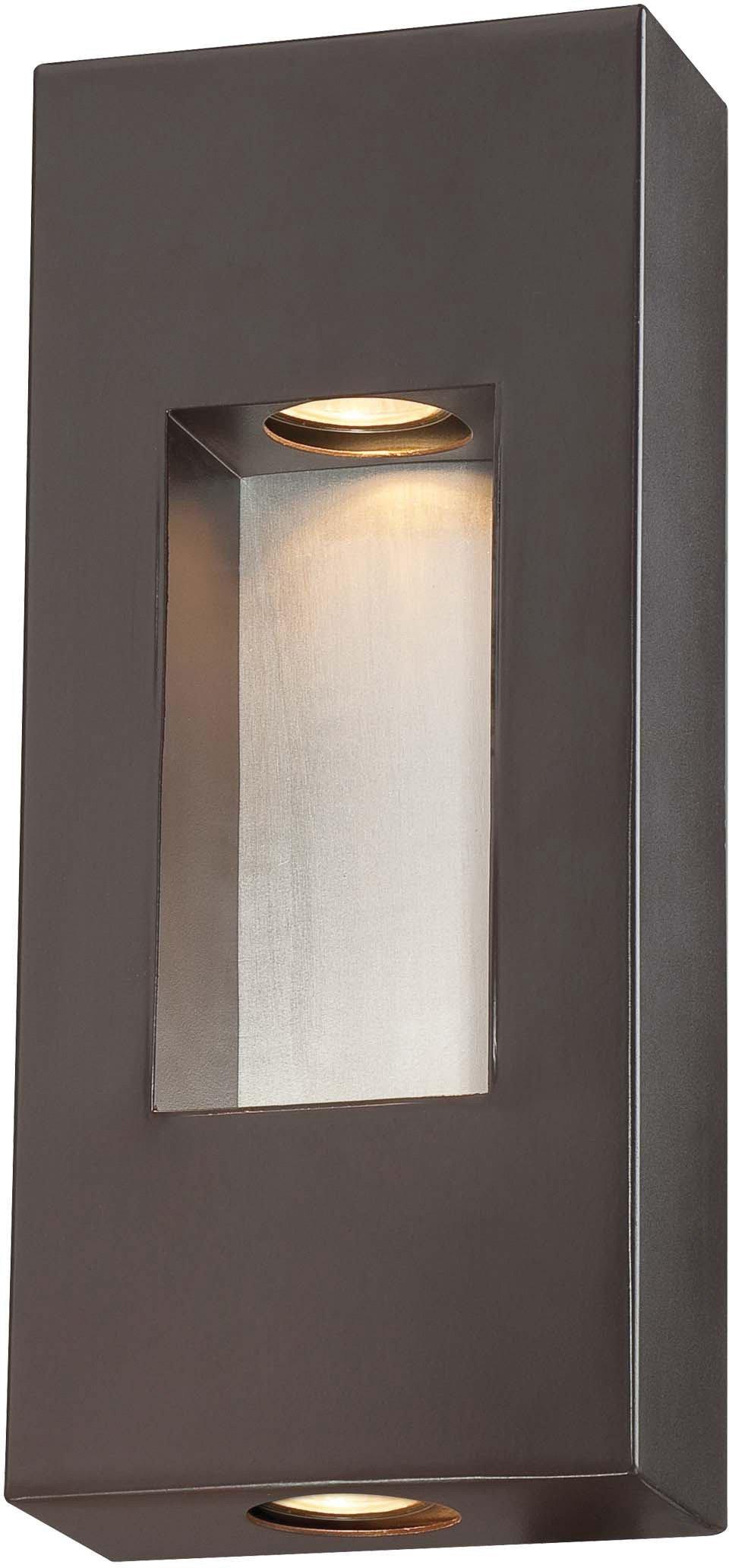 Minka Lavery Modern Outdoor Wall Light 72371-615B Geox Cast Aluminum Exterior Wall Lantern, 70w Halogen, Bronze