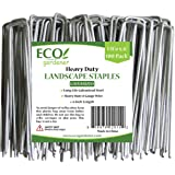 ECOgardener 8 Gauge Extra Heavy Duty Galvanized Weed Barrier Landscape Fabric Staples