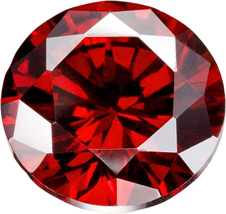 Color Granate Circonita cúbica AAAAA Piedras Preciosas Sueltas Redondo 1 mm-10 mm, Zirconia cúbica CZ Piedra para Anillo/Collar/Pendientes, fabricación de Joyas(1mm/1000pcs)