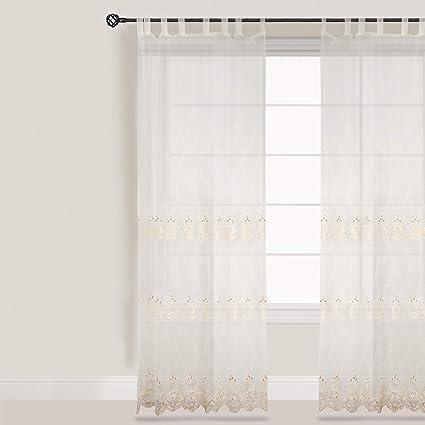 blanc mariclo rideau voilage polyester