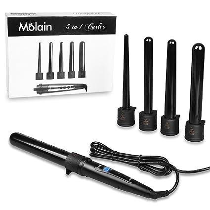Molain - Set 5en 1 para cabello contenacillas, rizadores para el