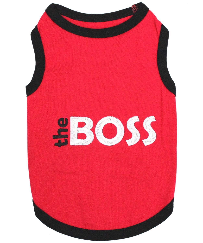 2XL Parisian Pet The Boss Dog T-Shirt, 2XL