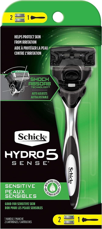 Schick 01321 Flitz AL 01710 Metal PreClean, Maquinilla de afeitar sensible + 2 recambios., , N/A, 1 uds. por paquete, ]