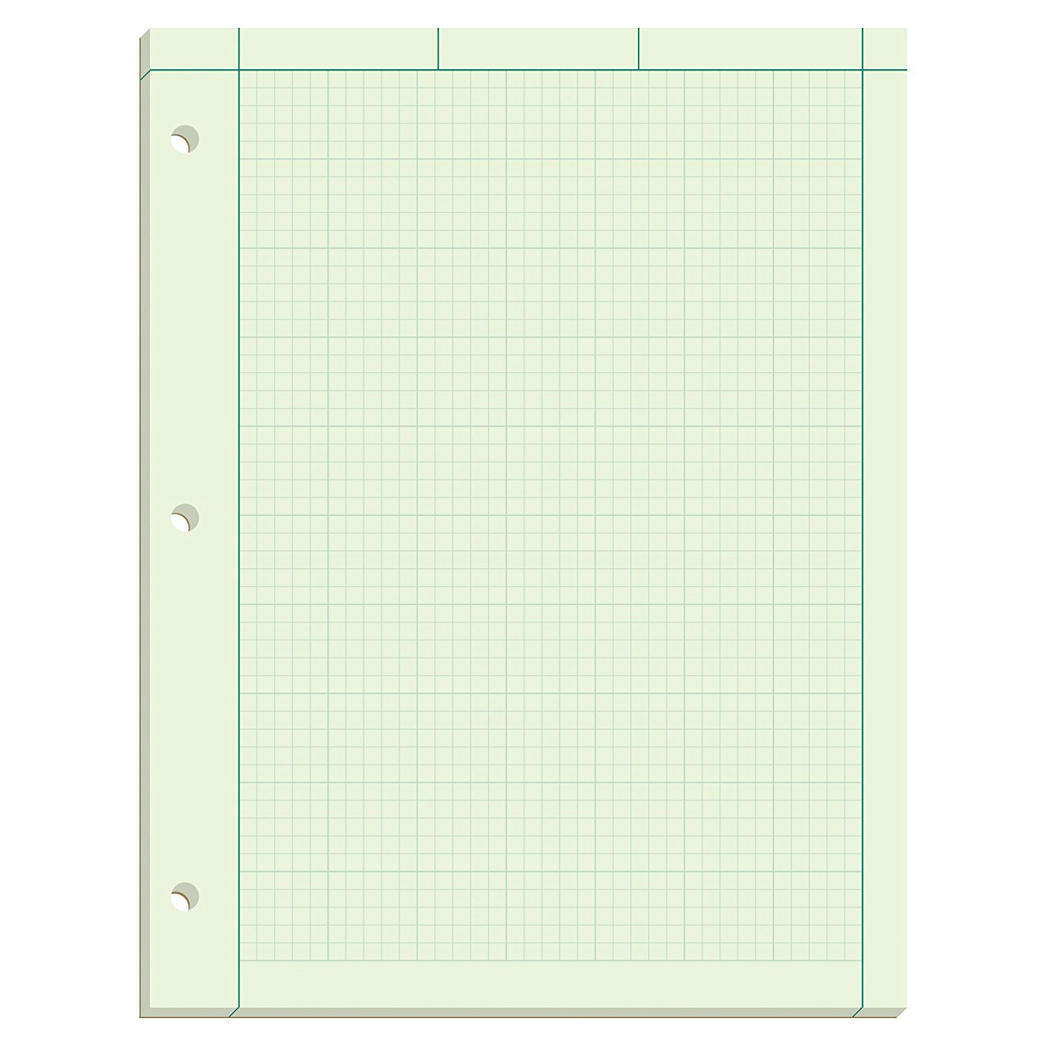 Ampad Evidence Engineering Pad, 100 Sheets, 5 Squares Per Inch, Green Tint, 11'' H x 8 1/2 W, Pack Of 5 (22-142) - Bundle Includes Universal Letter Opener by Ampad (Image #2)