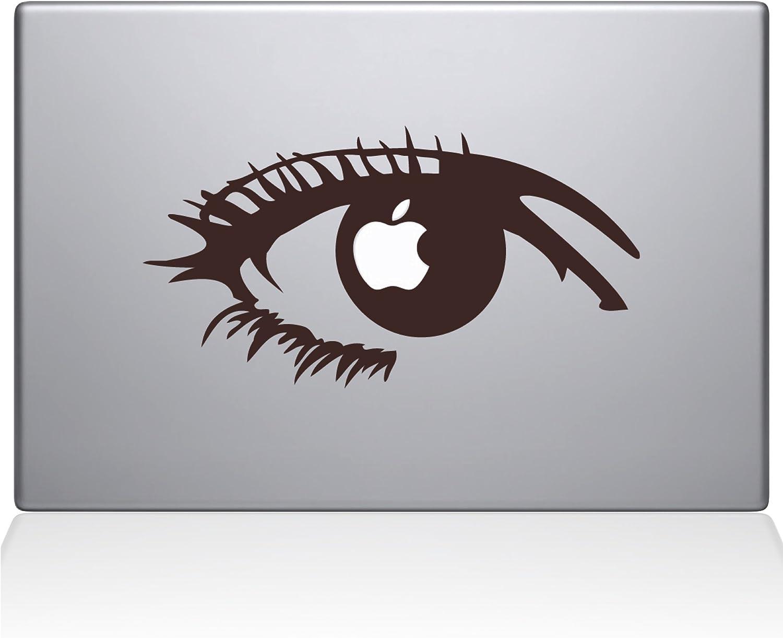 "The Decal Guru 0160-MAC-15X-BRO Apple of my eye Vinyl Sticker, 15"" Macbook Pro (2016 & newer), Brown"