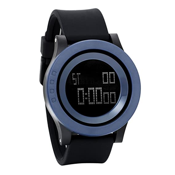 avaner reloj hombre Sport reloj de pulsera electrónica 30 m impermeable LED reloj Original gráfico Digital correa de silicona pulsera reloj Sport hombre ...
