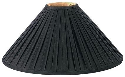 Royal Designs Pleated Coolie Designer Lamp Shade, Black, 5 X 20 X 12