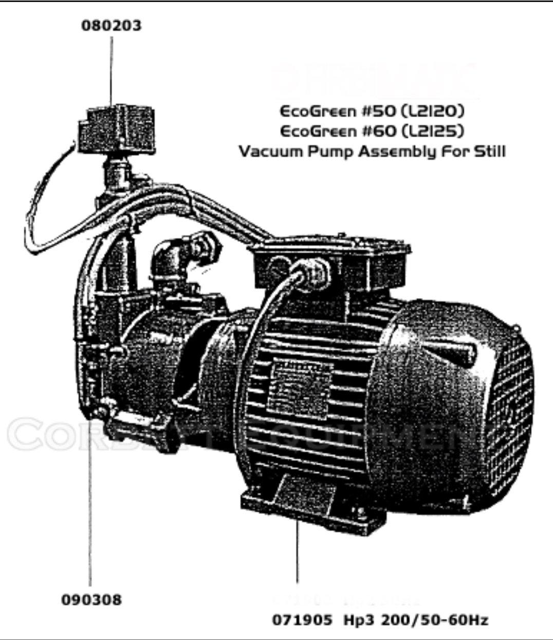 TRMB 32-50 Vacuum Pump 3 HP Liquid Cooled # M17726 & 0719005 0719053 TRMB 32-50 FOR FIRBIMATIC, UNION, REALSTAR