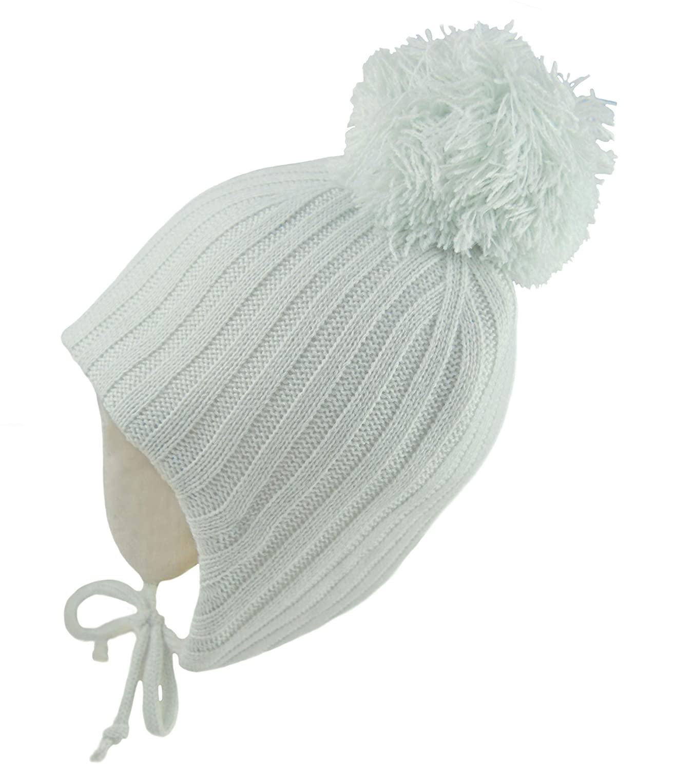 Pesci Baby Girls or Boys Double Pom Pom Hats Beanie Bobble Hat Wooly Ribbed Knitted Winter Cap Newborn to 12 Months