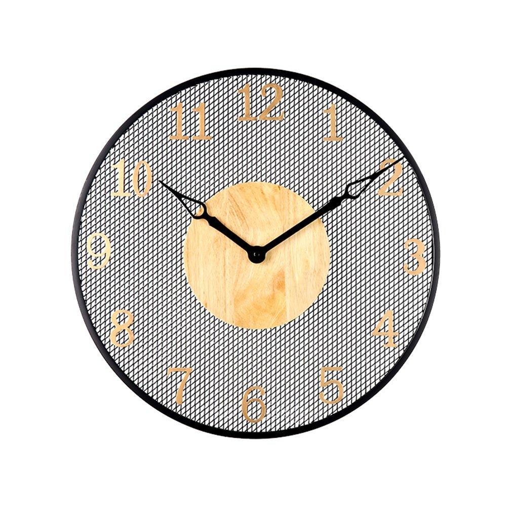 AODISHA ソリッドウッドの壁時計、レトロ居間の壁時計寝室の壁時計ホームバーフラワーショップの装飾の壁時計の直径50CM より多くの装飾を取る (サイズ さいず : 50*50cm) B07FGVBJ5V50*50cm