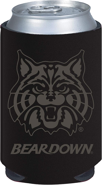 Arizona Wildcats 2-Pack Tonal Black Design 12oz CAN Neoprene Beverage Insulator Holder Cooler University of