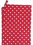 Krasilnikoff Geschirrtuch gepunktet Küchentuch Spültuch Handtuch rot