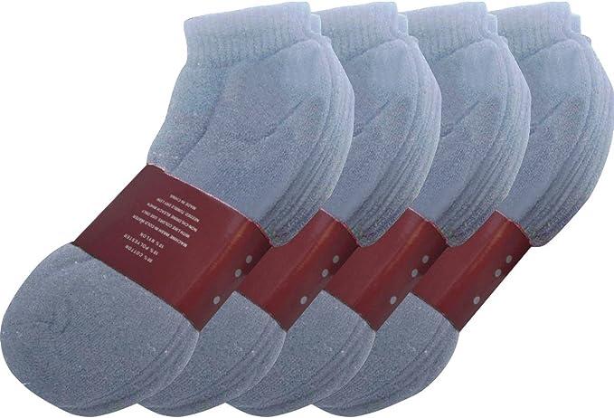Size 10-13 SOCKS/'NBULK Mens Black Quarter Ankle Athletic Socks for Men
