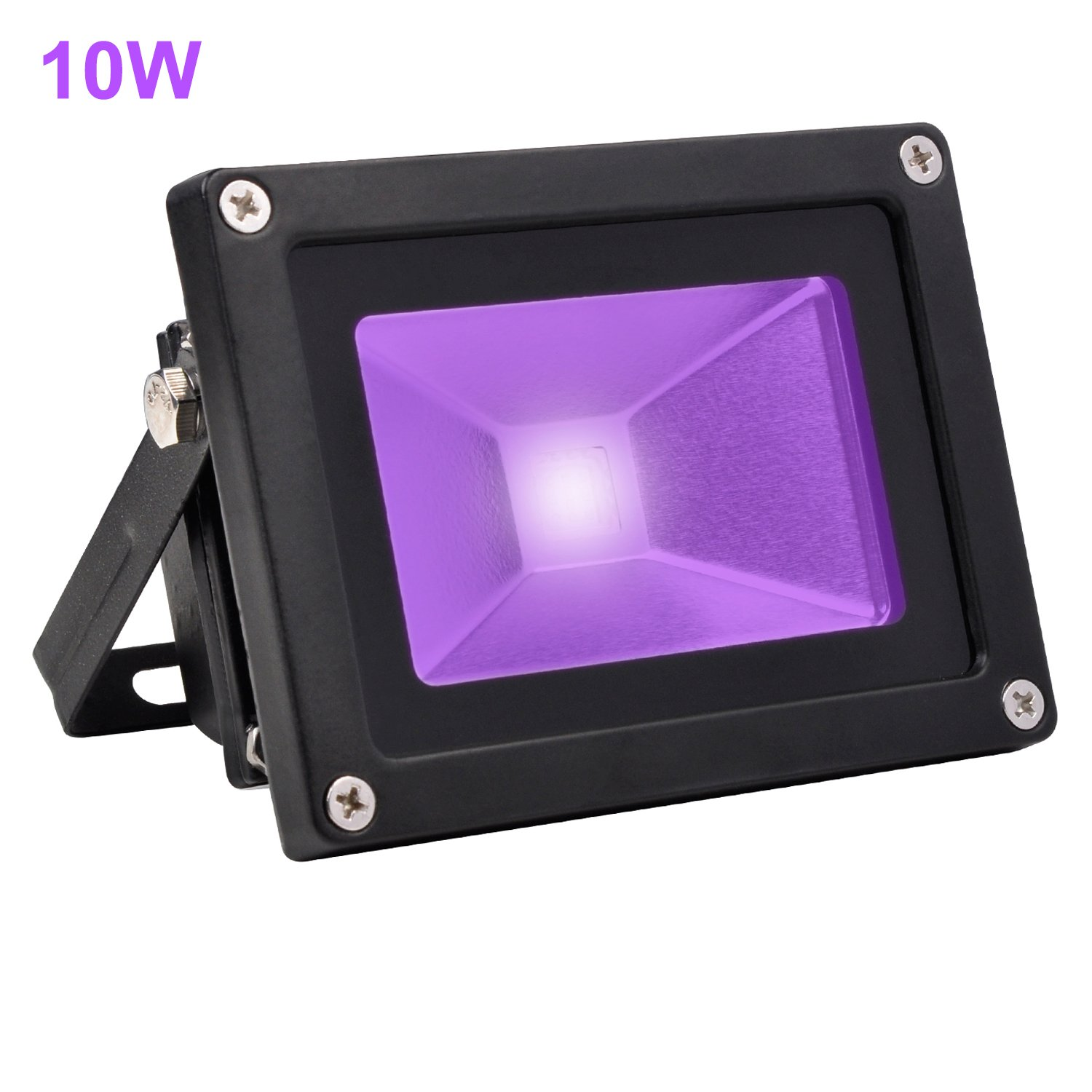 Black Light Flood Lamp, UV Blacklight 10W Waterproof for Party Supplies Stage Lighting Aquarium Indoor Outdoor Garden Hotel Yard Park Glow in The Dark-Amarle