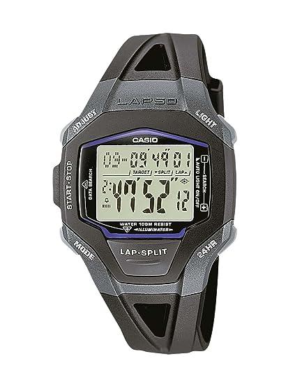 CASIO Collection W-110H-1AVHEF - Reloj de Mujer de Cuarzo, Correa de Resina Color Negro (con cronómetro, Alarma, luz)