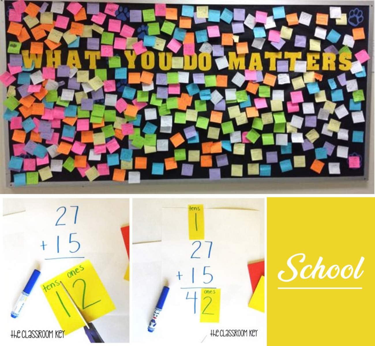 Spa/ß geformte bunte selbstklebende Notizbl/öcke f/ür Kinder M/ädchen in der Schule und zu Hause Packung mit 6 Bl/öcken, 270 Blatt Haftnotizen Lustig Set