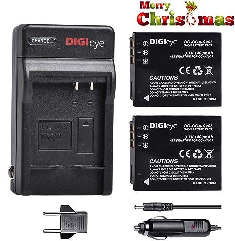 2x batería panasonic CGAS 005 cga-s005e s005 e//1b dmw-bcc12