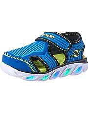 Skechers Hypno-Splash - Zotex Boys Sneakers, Blue/Lime, 8 US