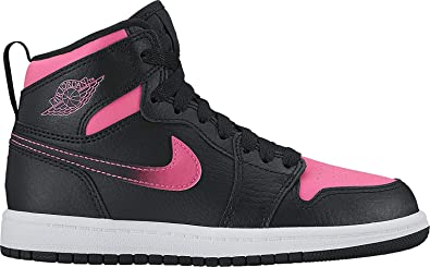 f96ef7eb521f9 Image Unavailable. Image not available for. Color  Nike Girl s Air Jordan 1  Retro High GP Basketball Shoe Black Black-Hyper Pink
