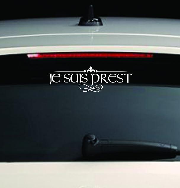 Custom Window Car Decal Je Suis Prest Sassenach