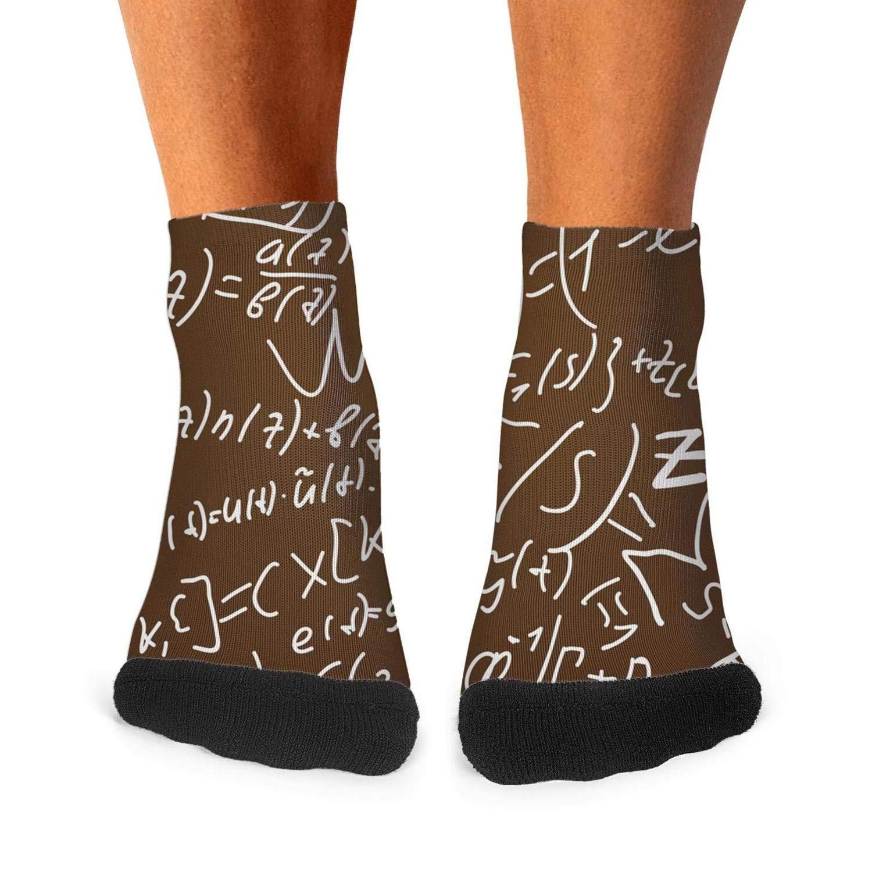 Socks Boot Casual Warm Fun Men Funny-Mathematics-Brown-Backdrop