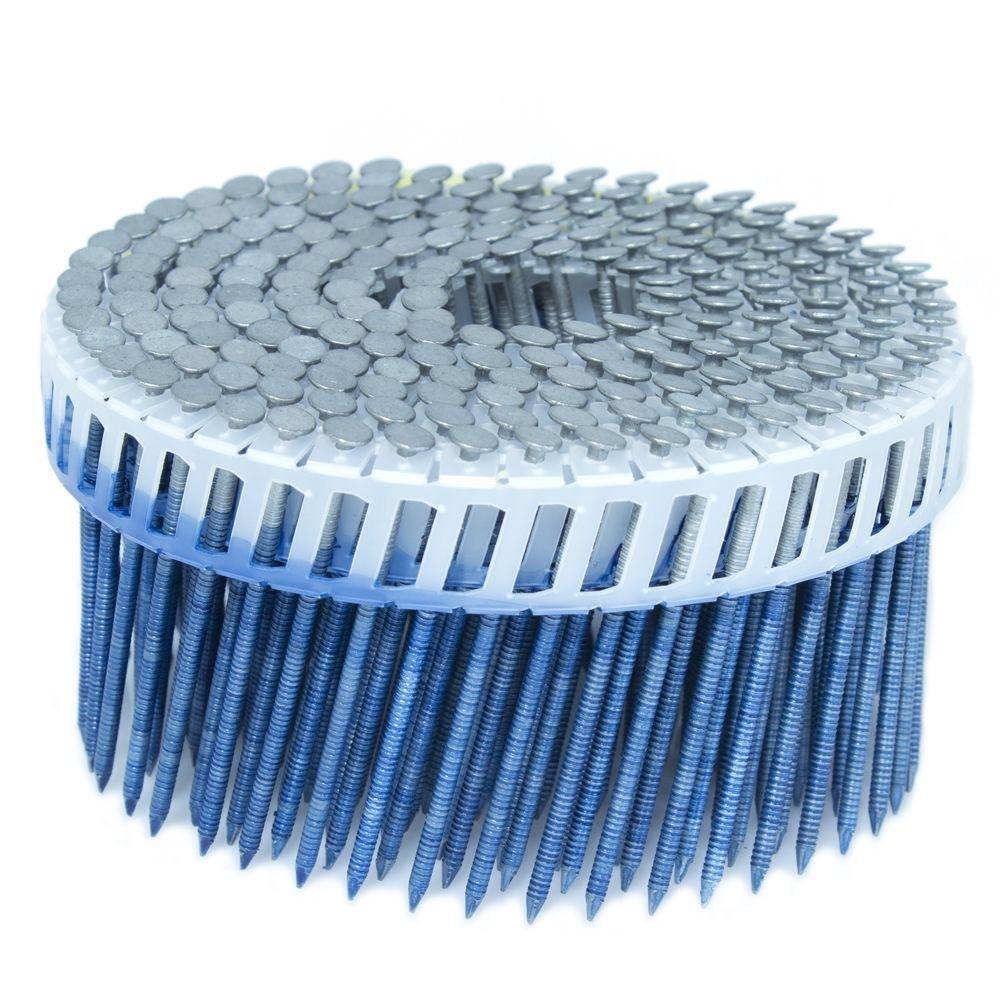 FASCO 2.5 in. x 0.092 in. 15-Degree Ring Hot Dip Plastic Sheet Coil Siding Nail 3,200 per Box