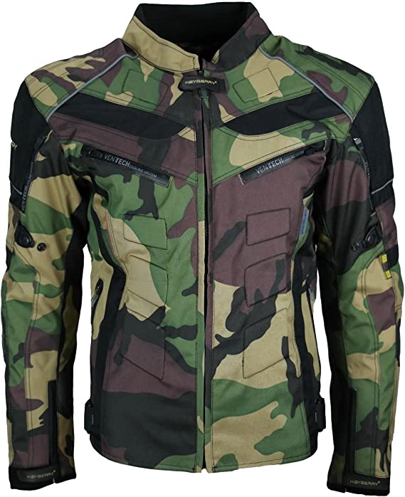 HEYBERRY Motorrad Jacke Motorradjacke Camouflage Urban Gr XL
