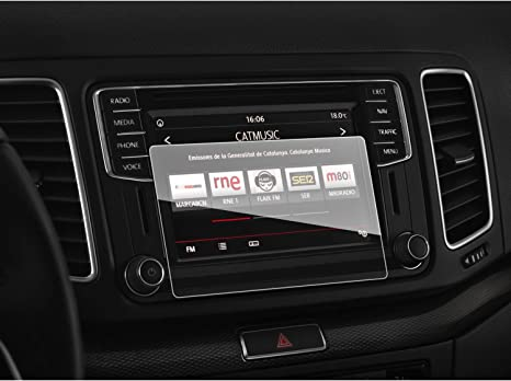 Savvies 6X Schutzfolie kompatibel mit Seat Media System Plus 8 2016 Displayschutz-Folie Ultra-transparent