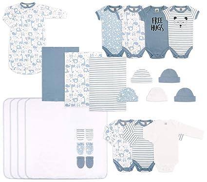 f70b95914 The Peanutshell 23 Piece Essential Layette Gift Set in Blue for Newborn Baby  Boys