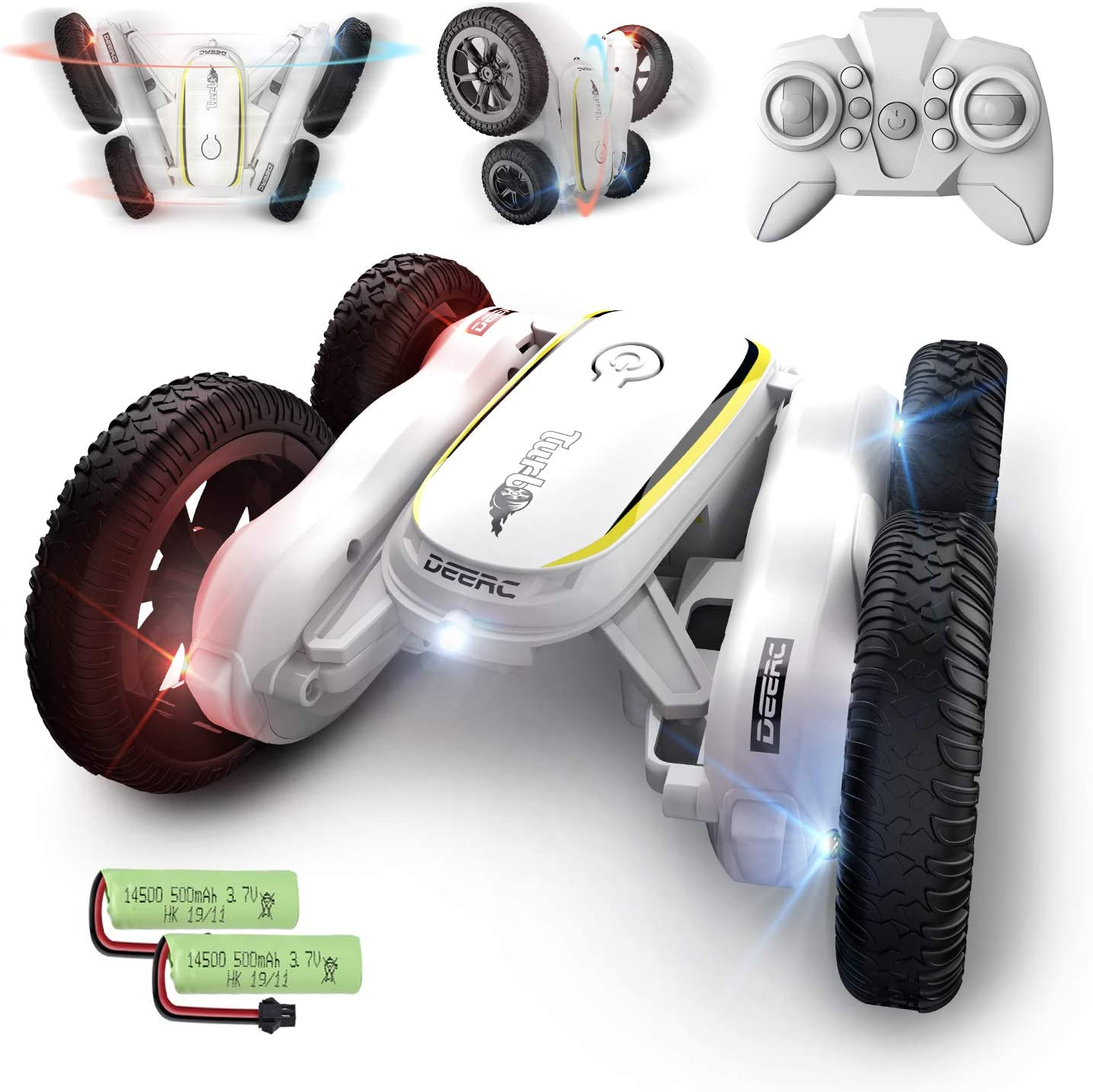 DEERC RC Stunt Cars Remote Control Car Toys for Kids